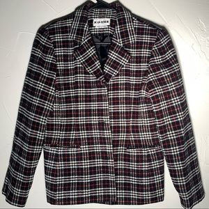 Vintage Joan Leslie plaid coat size 10P